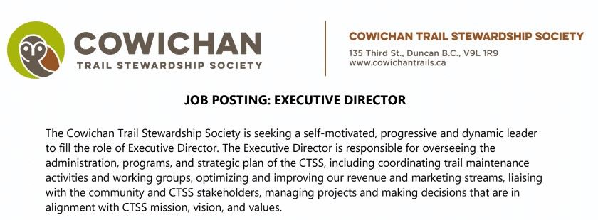 We are a hiring a new Executive Director