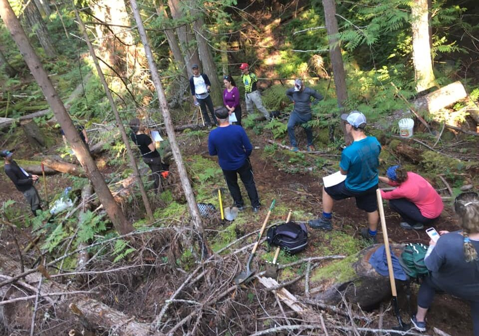 Trail workshop with Penny from Fraser Valley Mountain Bike Association